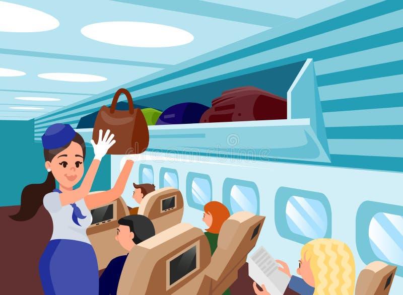 Specjalna samolotów posługaczów mieszkania ilustracja ilustracja wektor