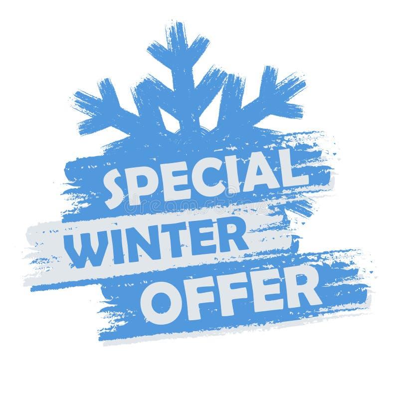 Specjalna zimy oferta ilustracja wektor