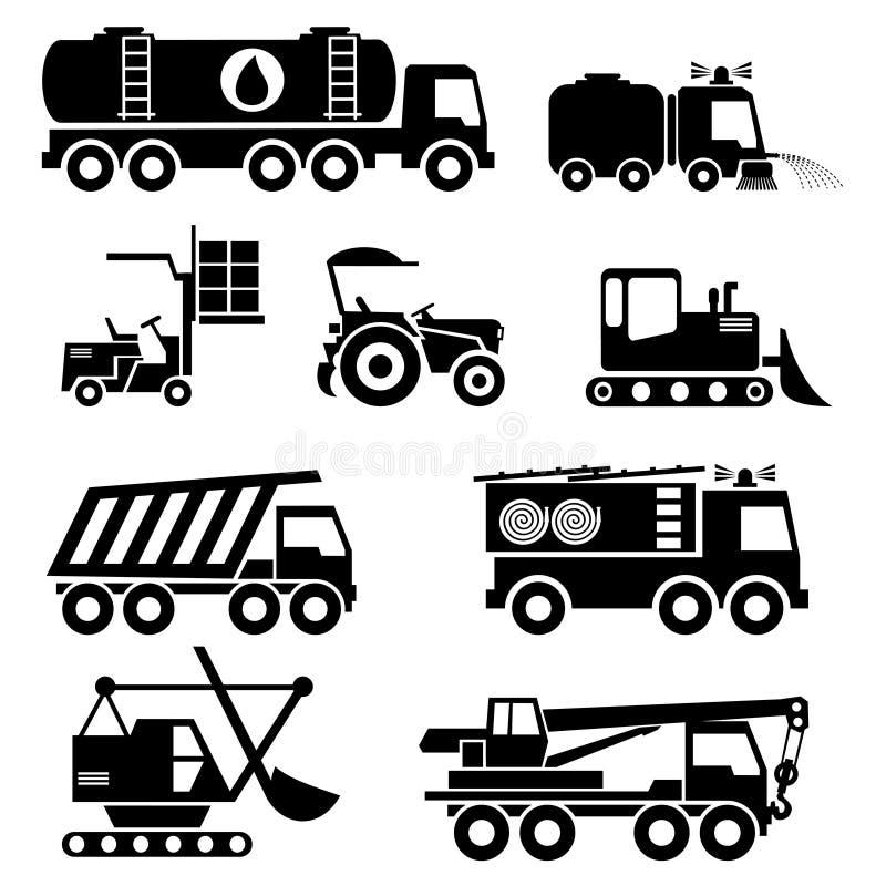 Specjalne pojazd ikony royalty ilustracja