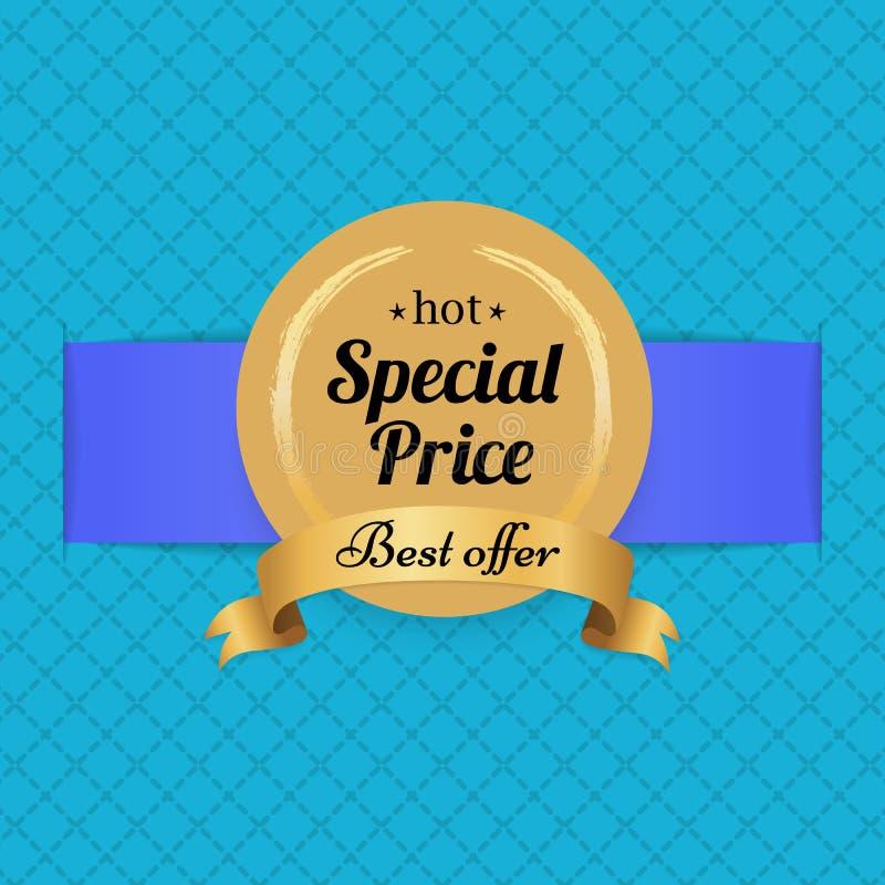 Specjalnej ceny Najlepszy oferty etykietki Gorąca Złota foka royalty ilustracja