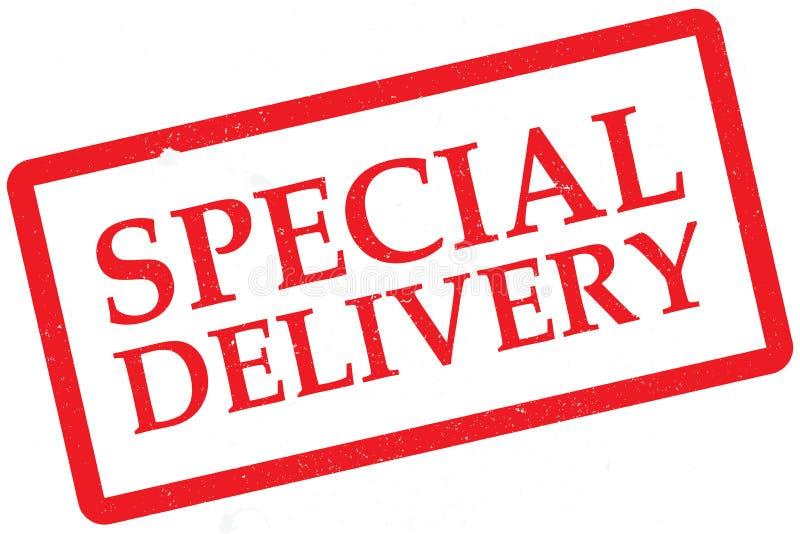 Specjalnej dostawy znaczek royalty ilustracja