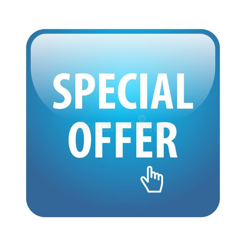 Specjalnej oferty guzik ilustracji