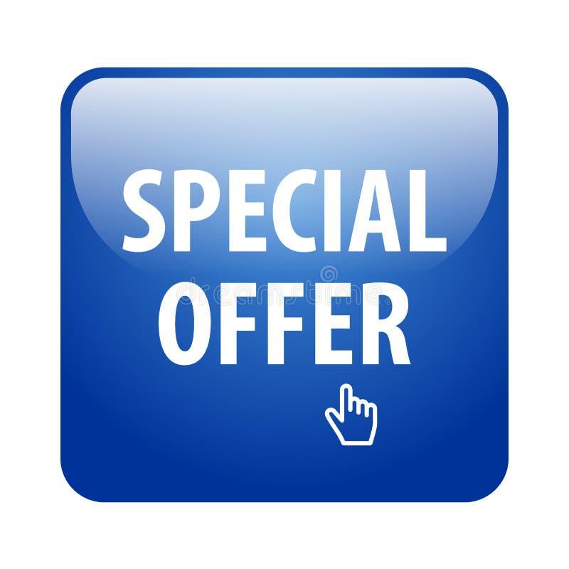 Specjalnej oferty guzik royalty ilustracja
