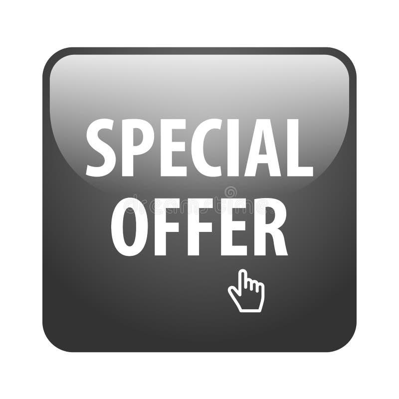 Specjalnej oferty guzik ilustracja wektor