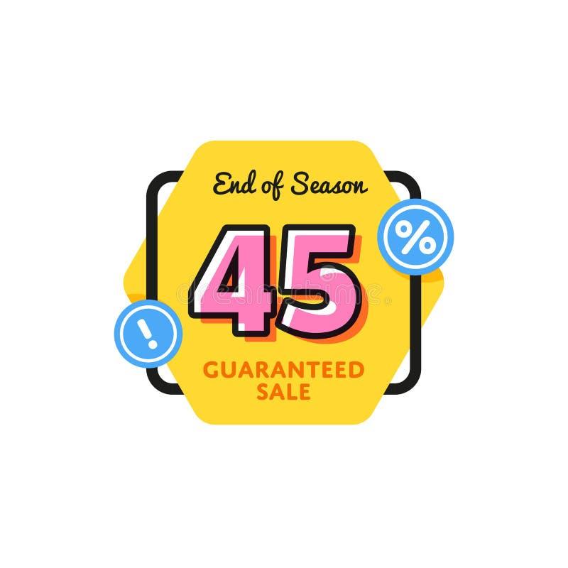 Specjalnej oferty sprzedaży etykietki rabata symbol ilustracja wektor