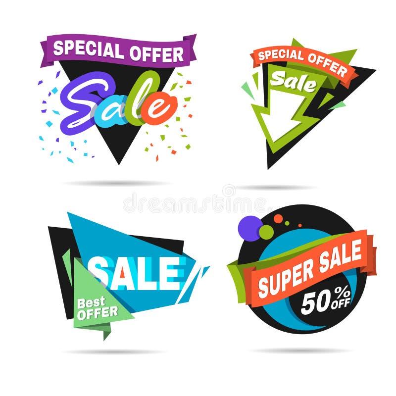 Specjalnej oferty sprzedaży sztandar Obniżonej ceny etykietka ilustracji
