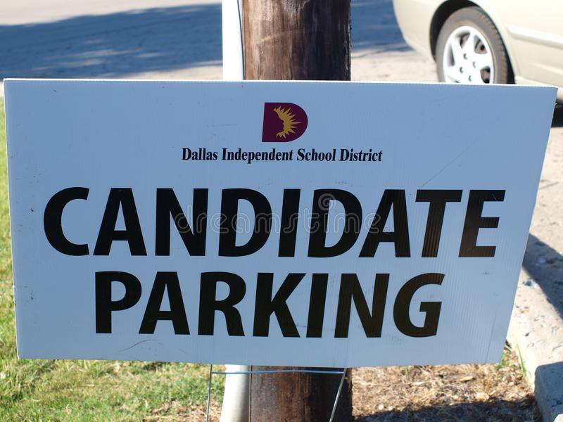 Specjalni parking znaki Dla kandydatów zdjęcia stock