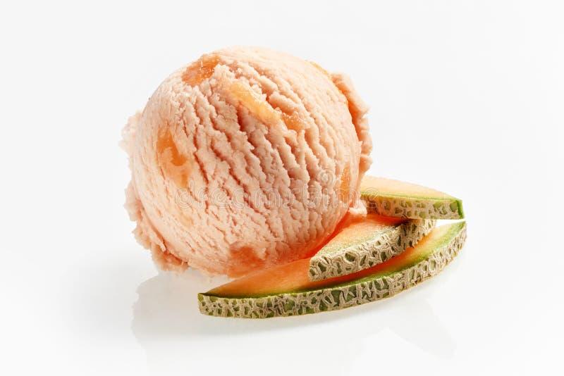 Specjalność słodkiego melonu Włoski lody obraz royalty free
