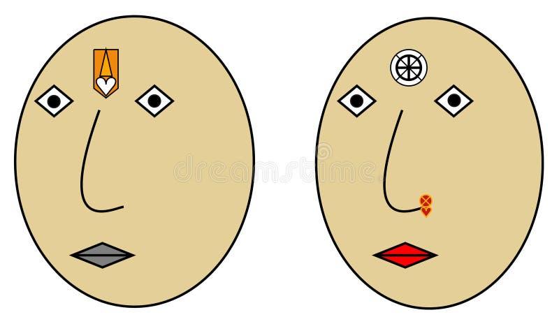 Specjalny pary emoji dla wieka świętuje royalty ilustracja