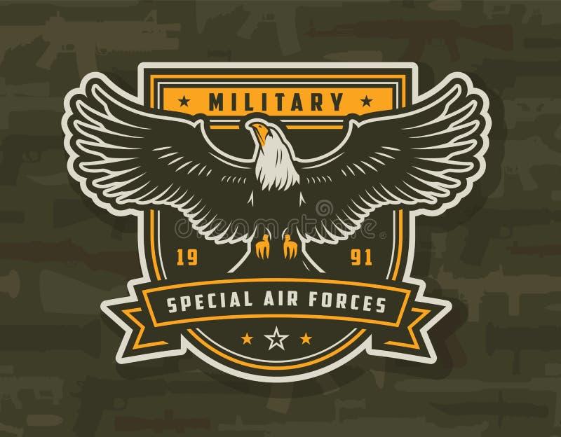 Specjalnych sił powietrznych kolorowa odznaka royalty ilustracja