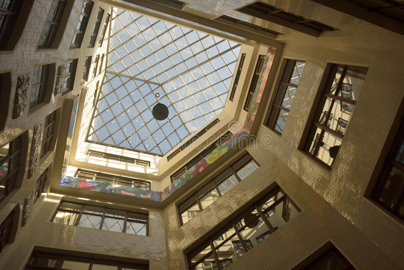 Speck's Hof购物中心室内设计在莱比锡 库存图片