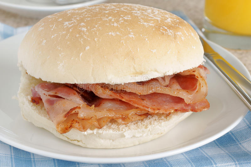 Speck-Sandwich stockfoto
