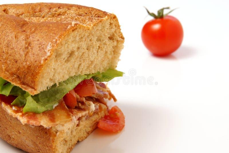 Speck-Sandwich lizenzfreie stockfotos