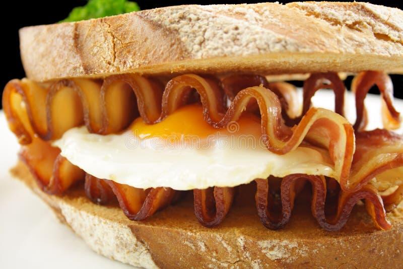 Speck-und Ei-Sandwich lizenzfreie stockbilder