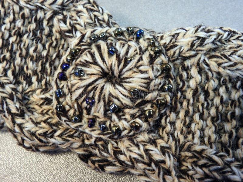 Crochet headband with small bead royalty free stock photography