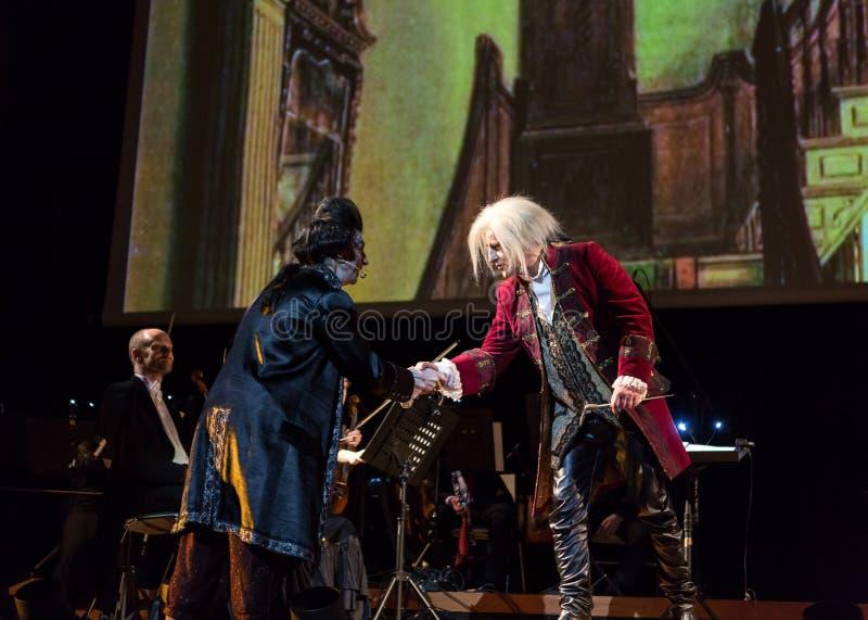 Spectacle comportant Filharmonia Futura et M Walewska - l'opéra est la vie photographie stock libre de droits