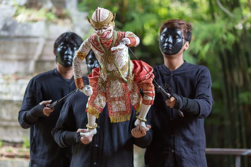 Spectacle de marionnettes thaïlandais images libres de droits