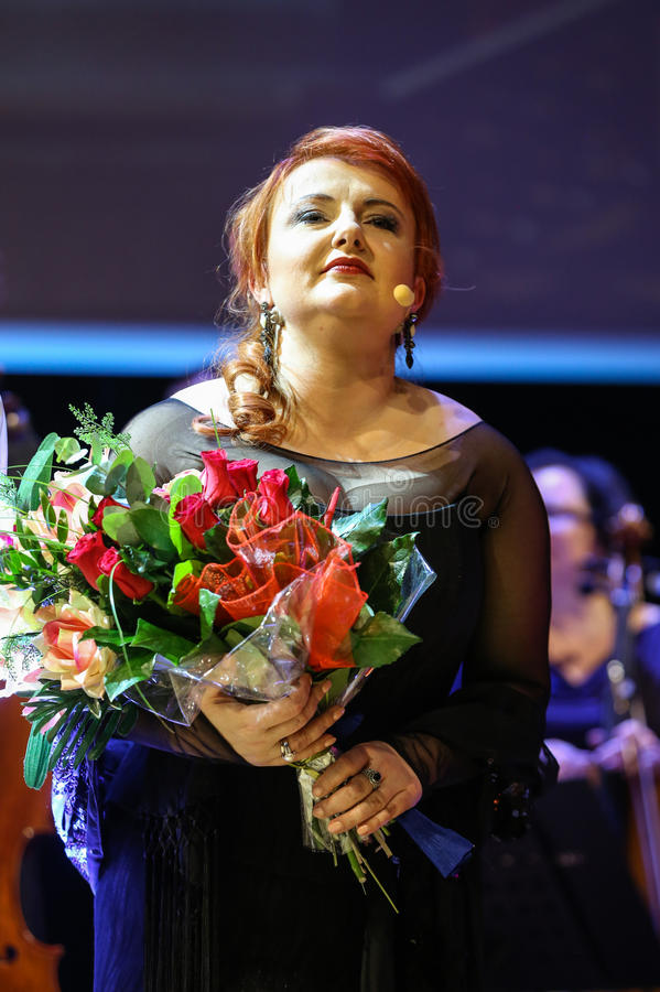 Spectacle featuring Filharmonia Futura and M. Walewska - Opera Is Life,. CRACOW, POLAND - FEB 27, 2016: Spectacle featuring Filharmonia Futura and M. Walewska royalty free stock photography