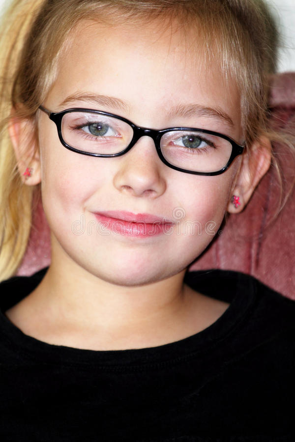Download Spectacled Cutie stock photo. Image of hair, face, precious - 23388164