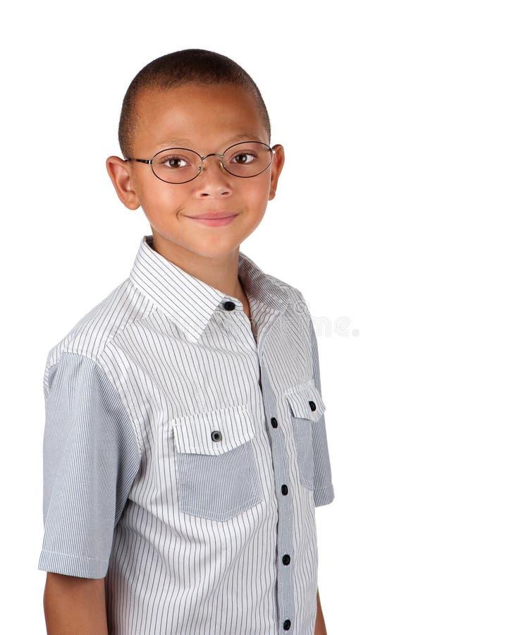 Spectacled Junge lizenzfreie stockfotografie