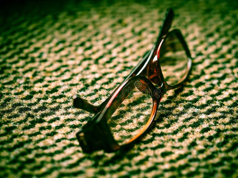 Spectacles on carpet