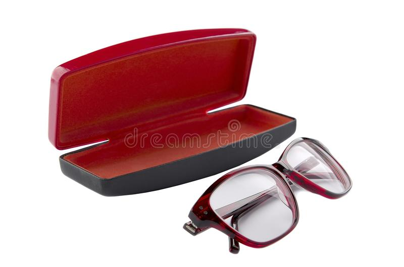 Spectacles and Case for glasses royalty free stock photo