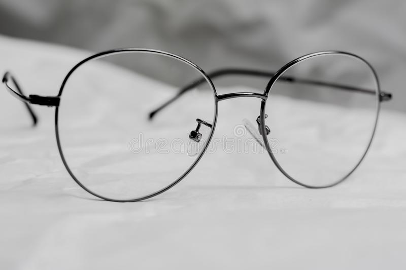 Spectacles, Eyeglasses for short-sighted people stock images