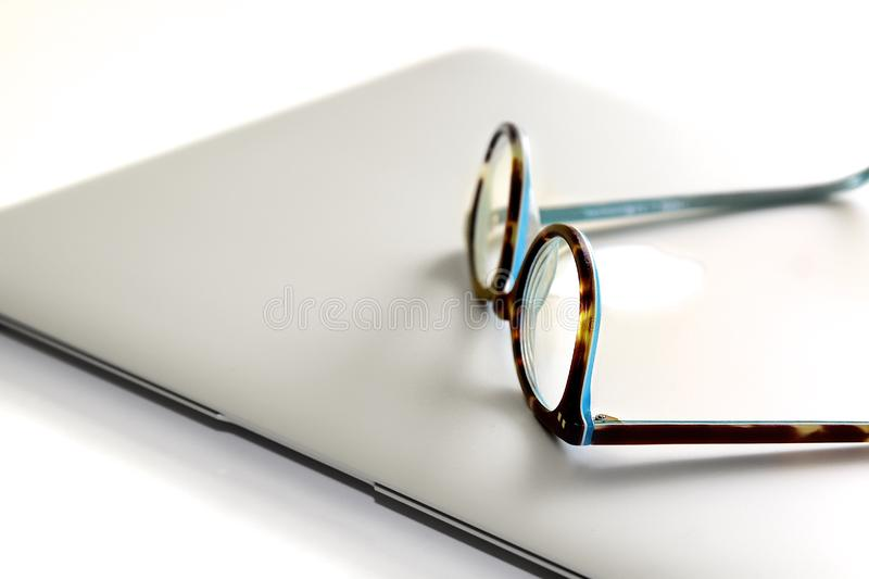 Spectacles On A Notebook Computer Free Public Domain Cc0 Image