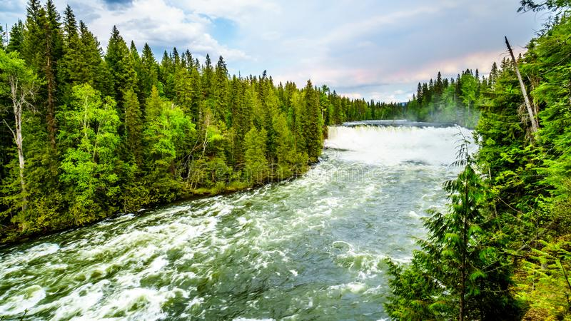 Spectaculair Dawson Falls in Putten Gray Provincial Park, BC, Canada royalty-vrije stock afbeelding