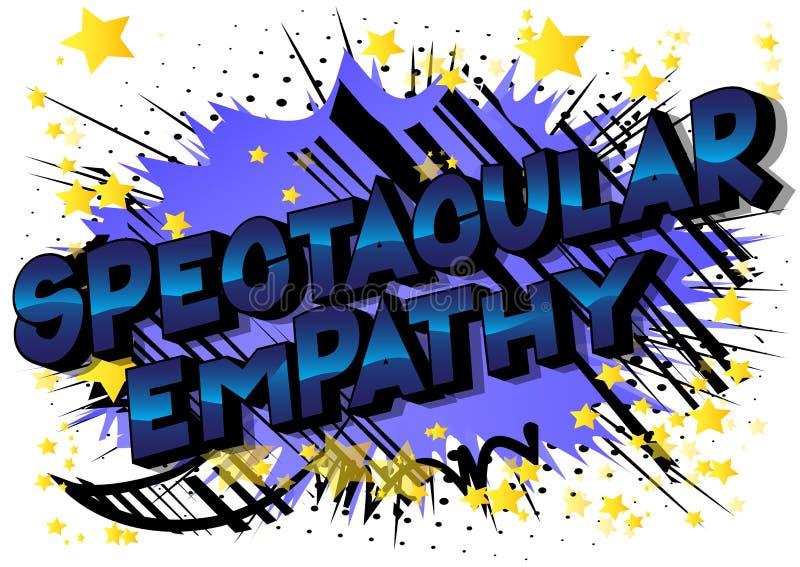 Spectaculaire Empathie - de Grappige woorden van de boekstijl royalty-vrije illustratie