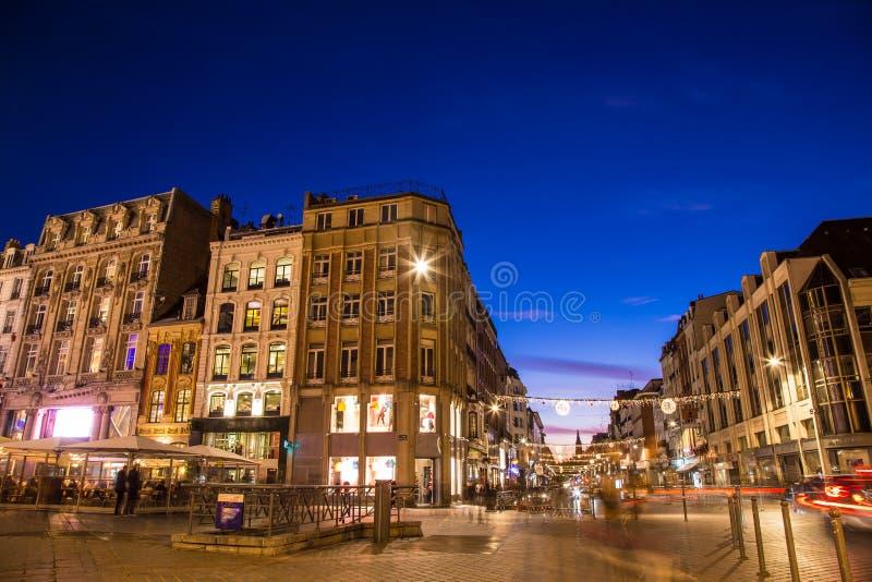 Spectaculaire Kerstmistijd in verbazend Brugge België royalty-vrije stock afbeelding