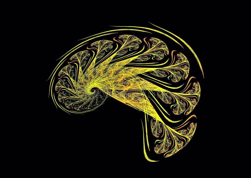 Spectaculaire kleurrijke abstracte fractal stersamenstelling op een donkere achtergrond Geproduceerd door computer stock afbeeldingen