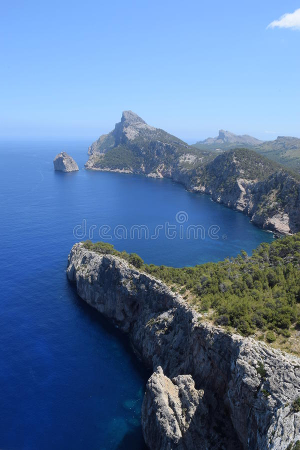 Spectaculaire mening van Formentor op Majorca stock fotografie