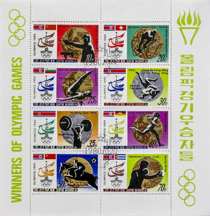 Spectaculaire postzegels stock foto's