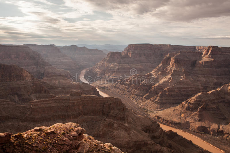 Spectaculaire Toneel: Grand Canyon van Guanopunt, Hualapai stock afbeeldingen