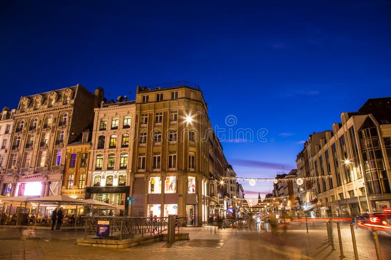 Spectacular Christmas time in amazing Bruges Belgium royalty free stock image
