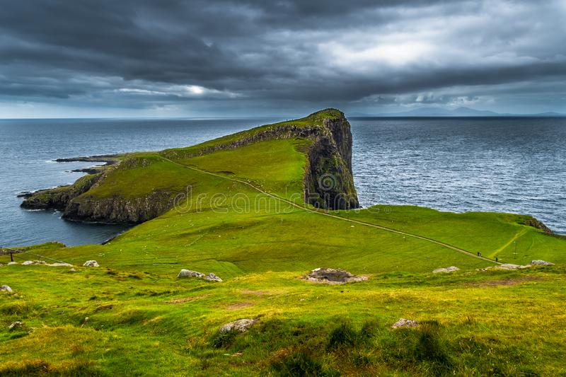 Spectacular Cliffs At Neist Point At The Coast Of The Isle Of Skye In Scotland.  royalty free stock photo