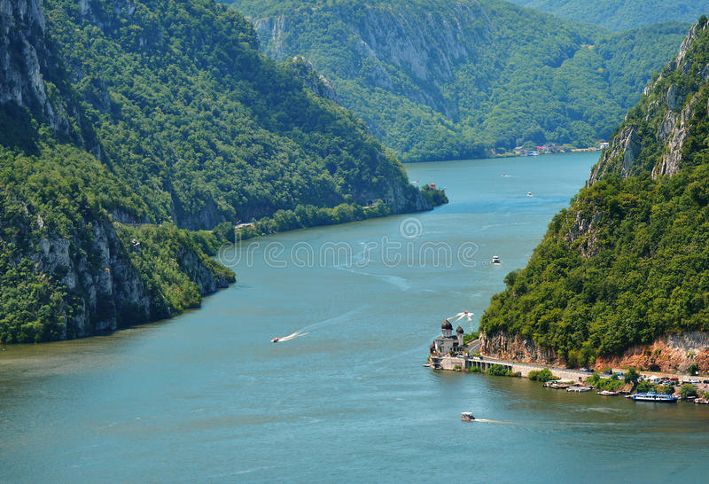 Spectacular Danube Gorges stock photography