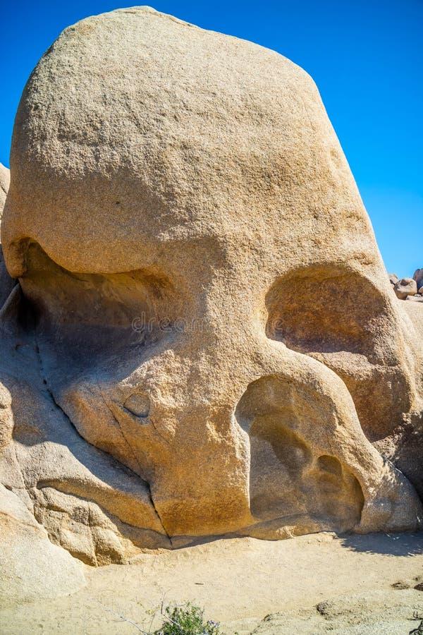 A Skull Rock in Joshua Tree National Park, California royalty free stock image