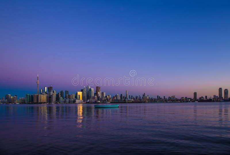 Amazing view of City of Toronto Ontario Canada stock photo