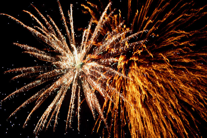 Spectacular Fireworks stock image