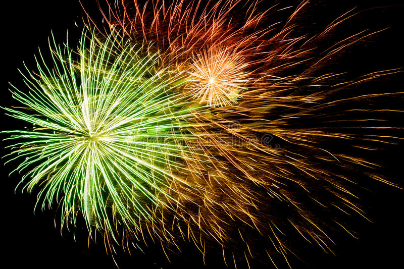 Spectacular fireworks background stock image