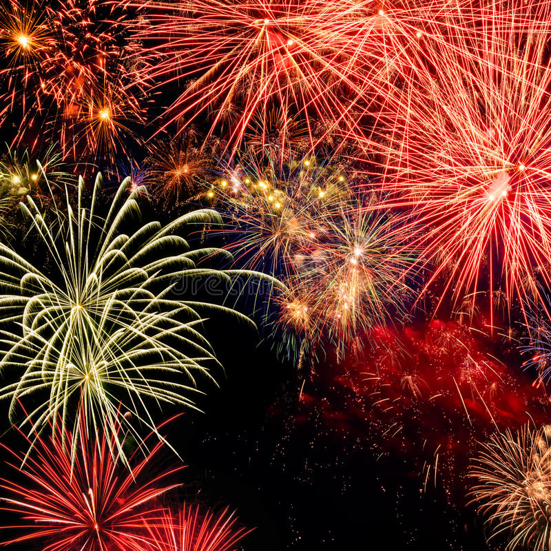 Spectacular fireworks royalty free stock photos