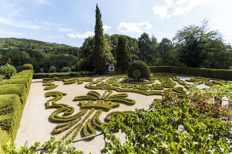 Vila Real - Mateus Palace Gardens royalty free stock image