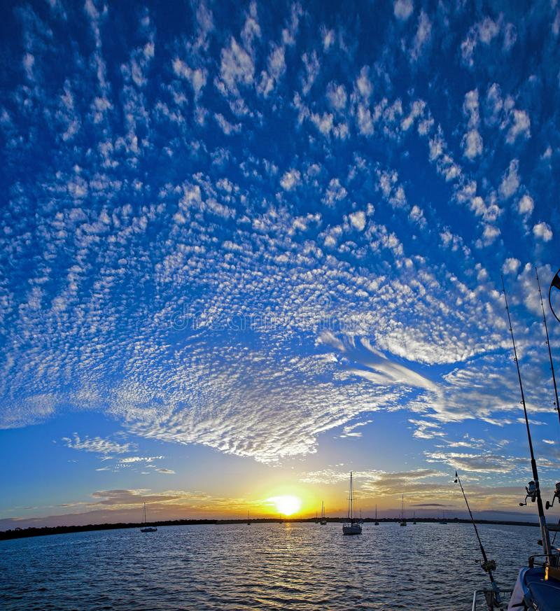 Magnificent white cloud in blue sky. Australia. royalty free stock photo