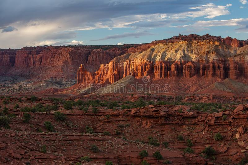 Spectacular landscapes of Capitol reef National park in Utah, US. Spectacular landscapes of Capitol reef National park in Utah royalty free stock photo