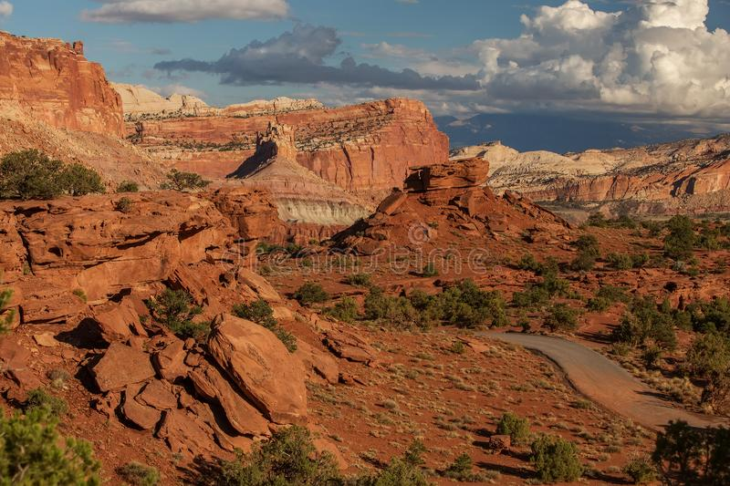 Spectacular landscapes of Capitol reef National park in Utah, USA.  stock images