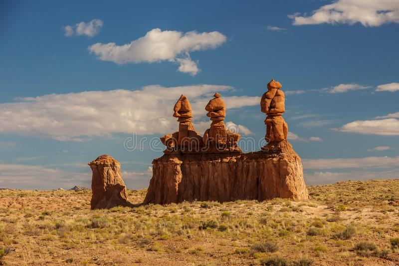 Spectacular landscapes of Goblin valley state park in Utah, USA.  stock images