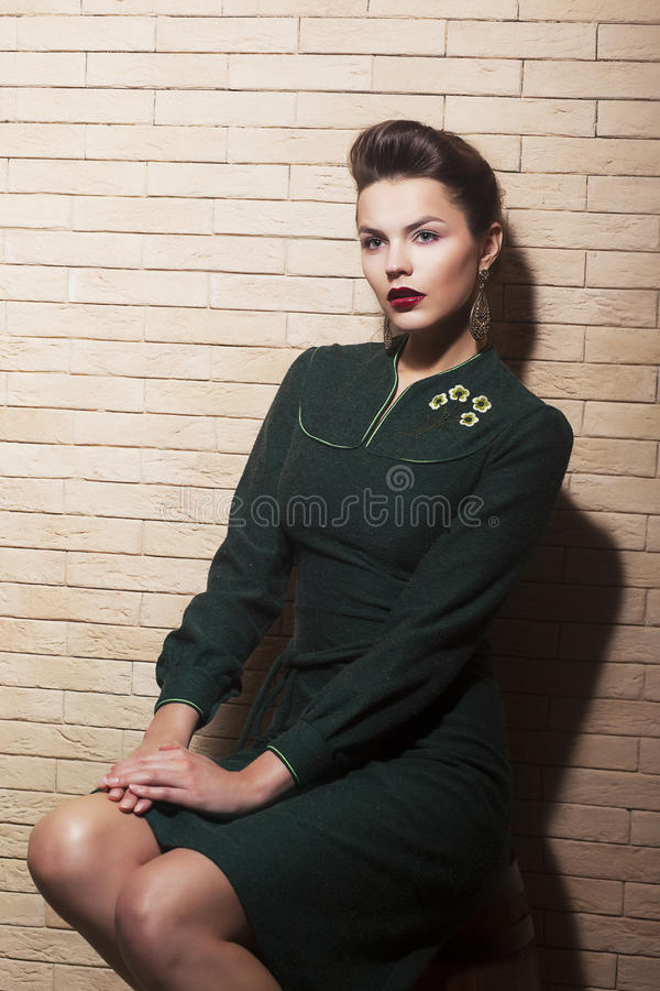 Download Spectacular Lovely Brown Hair Woman - Retro Style, Pinup Royalty Free Stock Photos - Image: 28382508