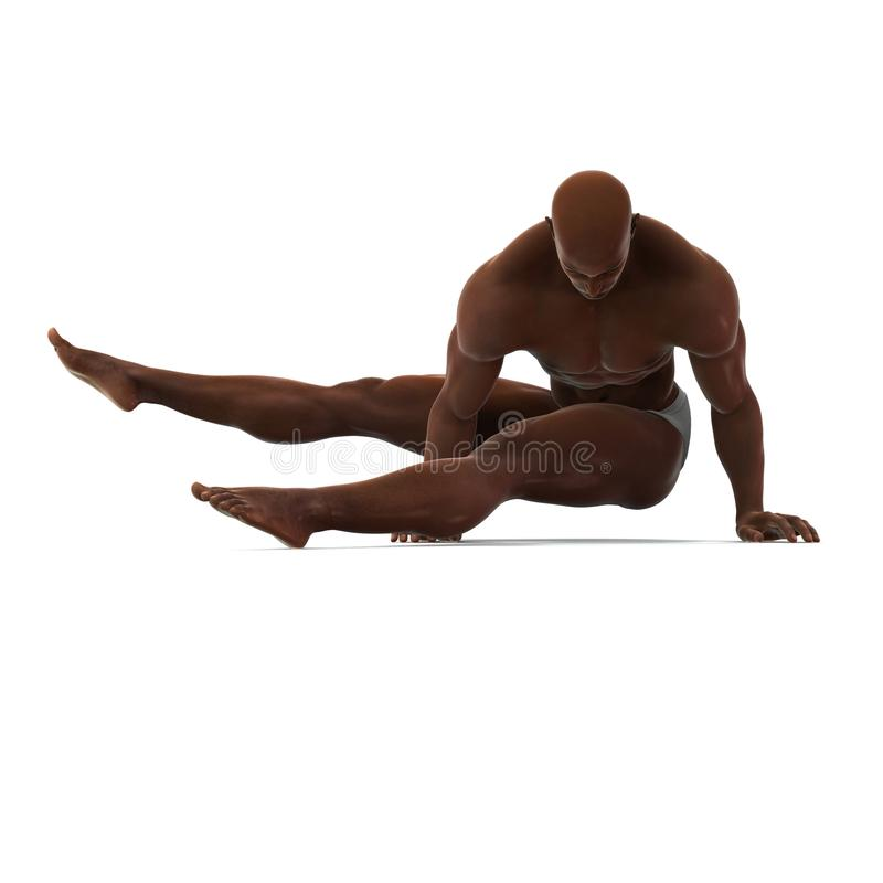 Spectacular. A male model in a pose stock illustration